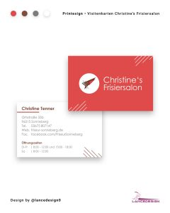 Visitenkarten Christines Frisiersalon